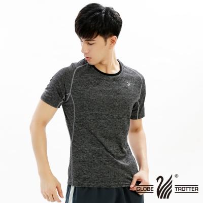 【遊遍天下】男款彈性吸排速乾圓領衫GS20003黑色