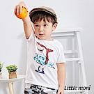 Little moni 鯊魚衝浪短袖棉Tee (2色可選)