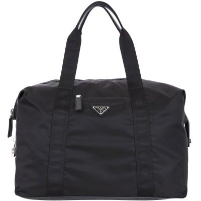 PRADA Weekender 三角牌尼龍旅行袋(黑色)