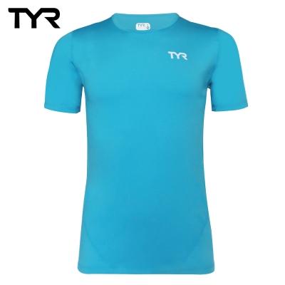 美國TYR 男款透氣排汗黑色短T Mens Running Tee