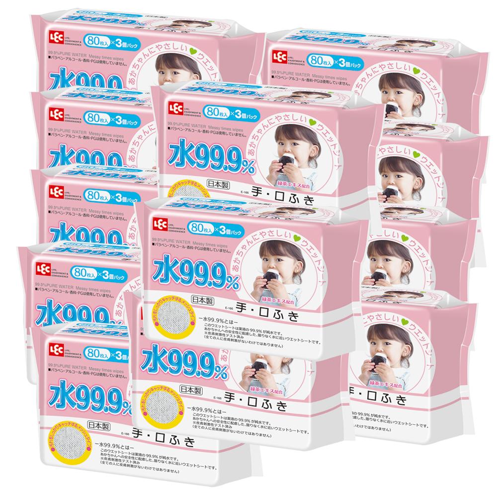 純水99.9%日本製LEC濕紙巾手口專用3入*12(大量特惠組)