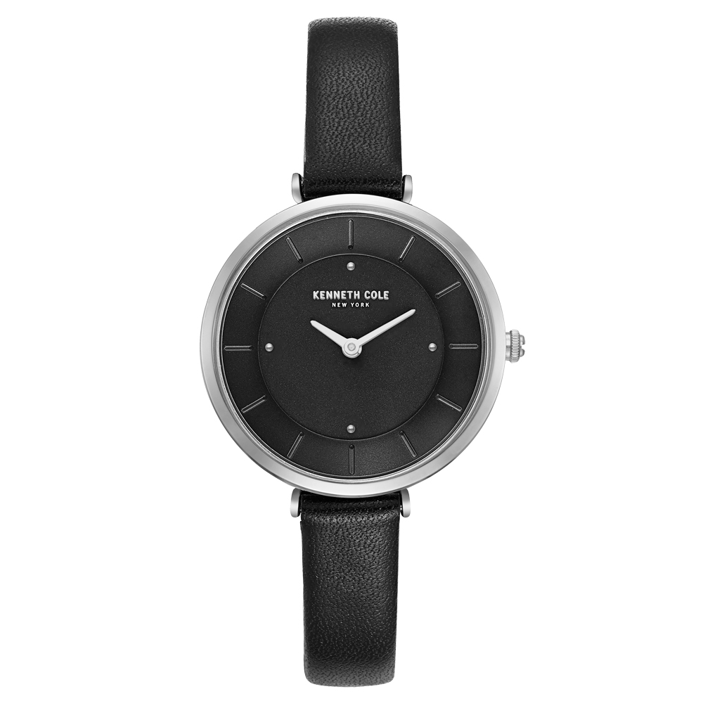 Kenneth Cole 別緻悅美時尚皮帶腕錶-KC50306002-32mm