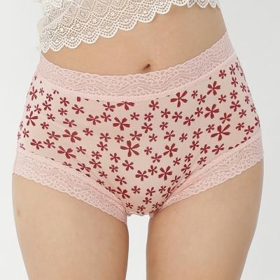 內褲 五瓣花100%蠶絲中高腰三角內褲 (豆沙) Chlansilk 闕蘭絹