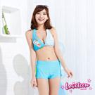 夏之戀 LOVETEEN 藍白色條紋比基尼泳衣三件式
