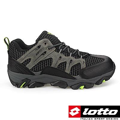 LOTTO 義大利 男 低筒戶外登山鞋 (黑灰)