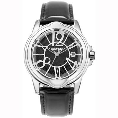 GOTO Romance時尚腕錶-黑/39mm