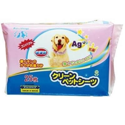 日本Pet village 誘導劑AG+銀離子除臭尿布墊 25片入