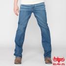 BOBSON 男款高腰伸縮直筒褲(藍1798-53)