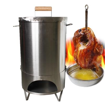 【三零四嚴選】特厚全手工304不鏽鋼桶仔雞烤桶1入(22公升/內容量)