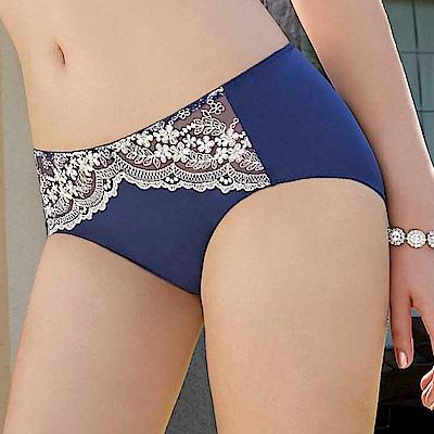 曼黛瑪璉 經典 低腰平口萊克內褲(皇冠藍)