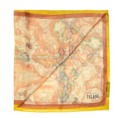 Alviero Martini 義大利地圖 地圖渲染車線絲-橘黃/地圖黃 (45X180)