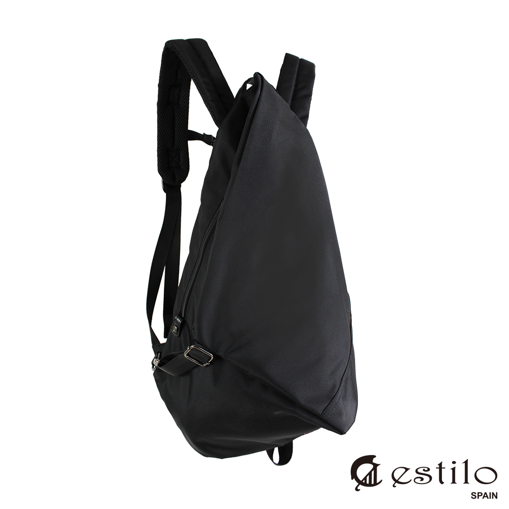 estilo - 幾何變化後背包-光影旅人系列 - 黑