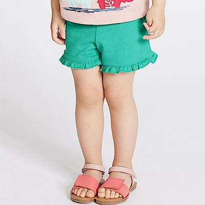 Baby unicorn 綠色荷葉邊短褲