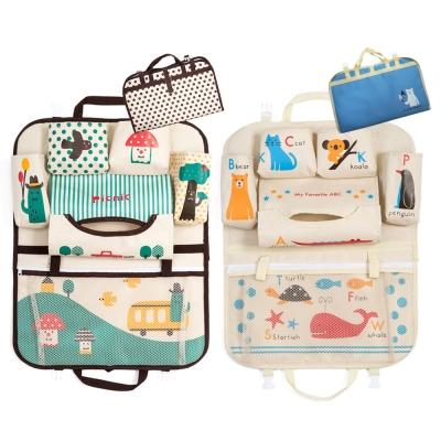 韓版卡通汽車椅背置物袋折疊掛袋收納袋