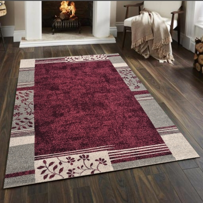 Ambience-比利時infinity 現代地毯 -紗舞(紅)(133x195cm)