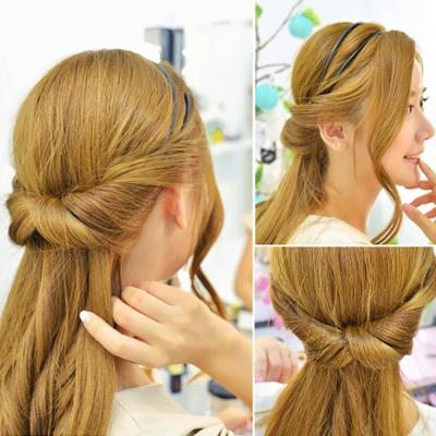 梨花HaNA 韓國玩髮密技百變造型雙層捲髮髮箍