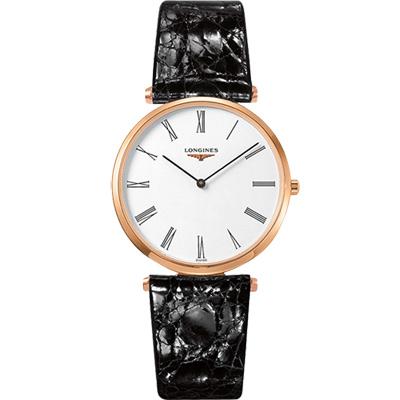 LONGINES 浪琴 La Grande 嘉嵐系列石英錶-玫塊金框/36mm