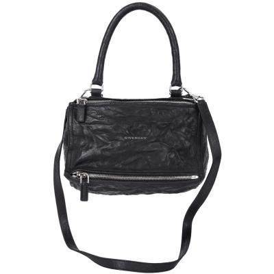 (無卡分期12期) GIVENCHY Pandora 綿羊皮鞣製兩用提包(小/黑色)