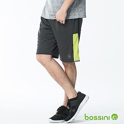 bossini男裝-速乾針織短褲01黑灰