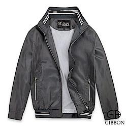 GIBBON 立領裝飾格紋透氣網輕薄夾克‧灰格M-XXL