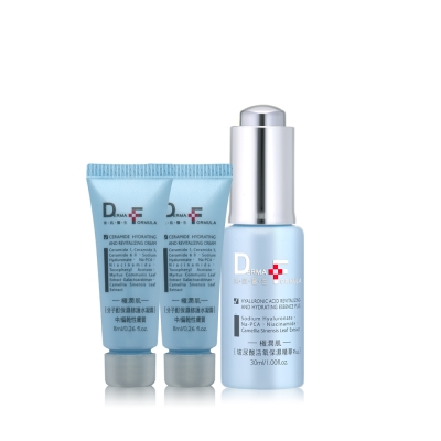 DF美肌醫生-買一送二保濕玻尿酸保濕精華Plus30ml贈品水凝霜8mlX2
