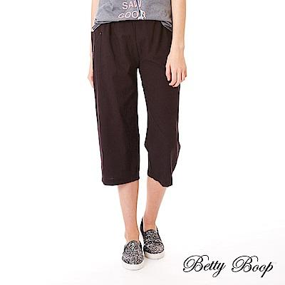 Betty Boop貝蒂 口袋繡圖鬆緊寬口褲(共兩色)