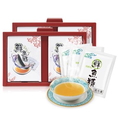 海浬寶 道地精華 原味鮮魚精 禮盒2入組(10包/盒)+加贈四物飲4包