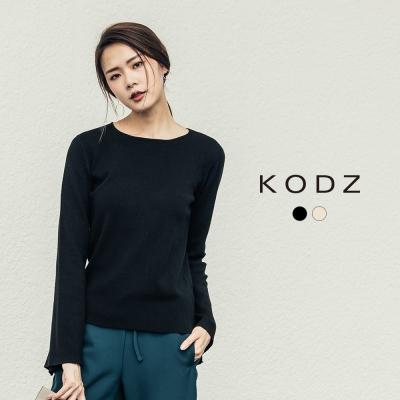 東京著衣-KODZ 雜誌款百搭喇叭袖針織上衣-S.M.L(共二色)