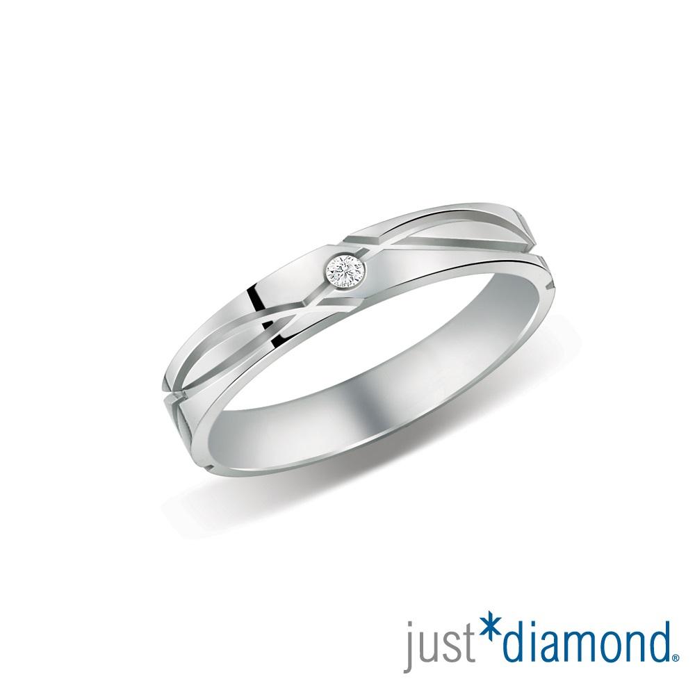 Just Diamond 深情印記男女對戒-女戒