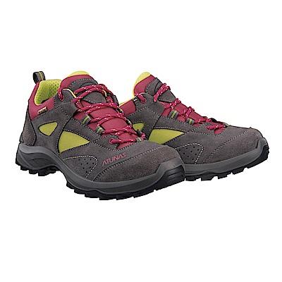 【ATUNAS 歐都納】女款防水透氣耐磨輕量登山健行鞋GC-1605綠粉
