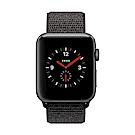 [無卡分期-12期]Apple Watch Series 3行動網路42mm灰鋁殼/黑錶帶