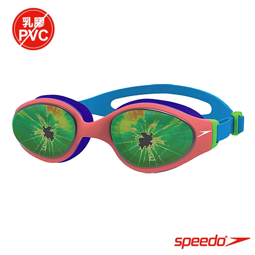 SPEEDO 兒童泳鏡 Holowonder 藍-橘