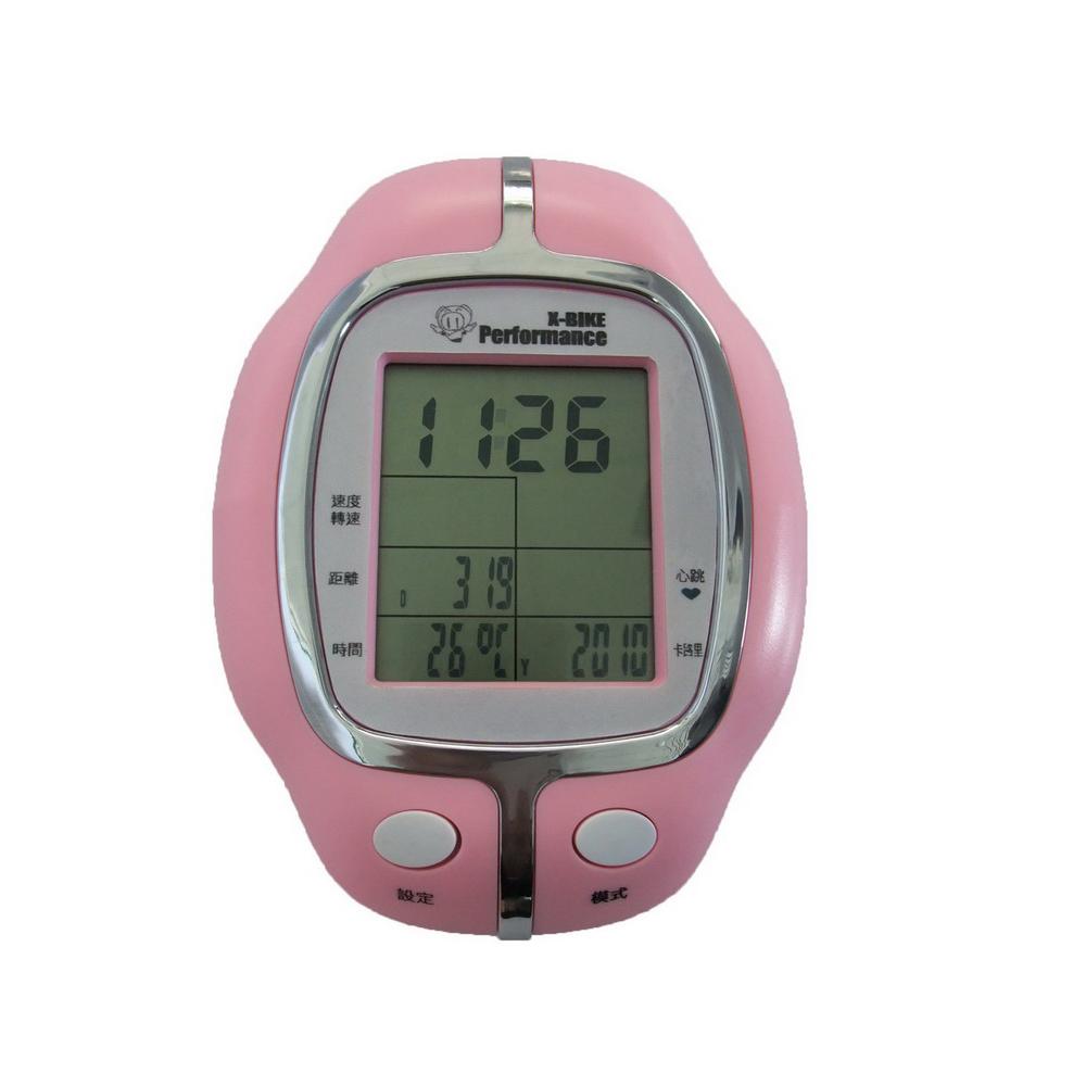 【 X-BIKE 晨昌】 X-BIKE 19807專用錶 -粉紅色