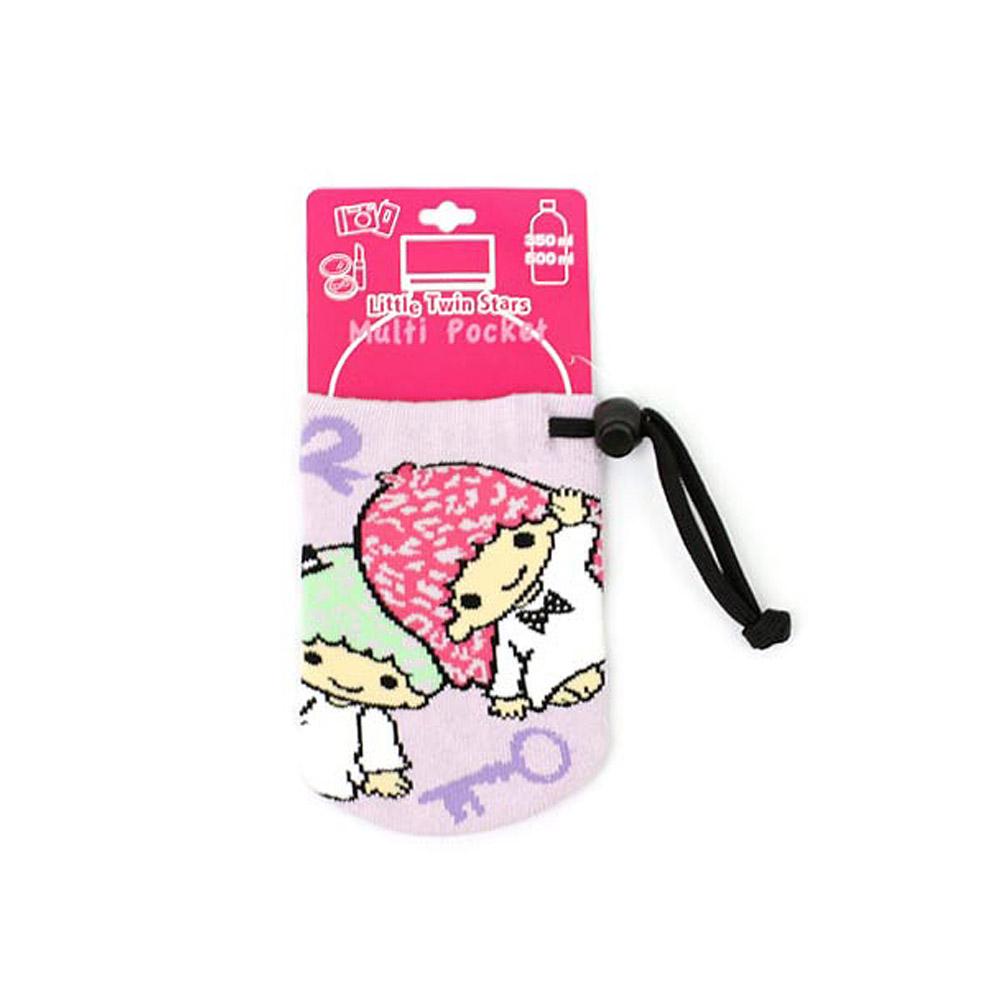 《Sanrio》雙星仙子隨身縮口包(粉紫豹紋)