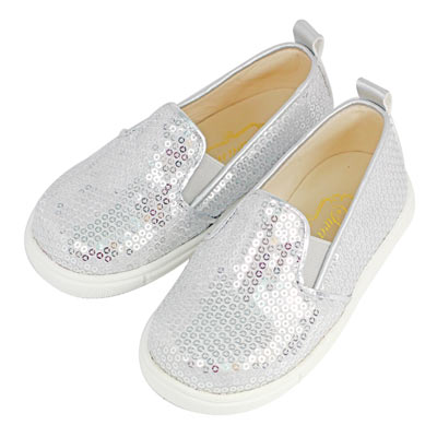 Swan天鵝童鞋-亮片懶人休閒鞋 3774-銀