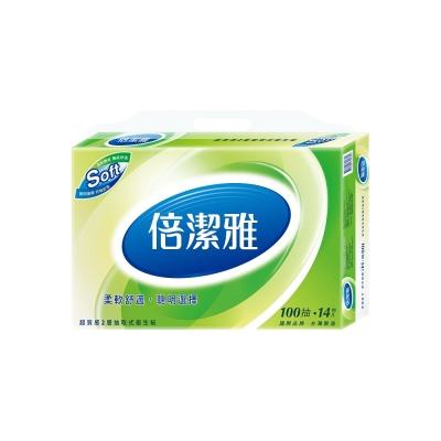 倍潔雅超質感抽取式衛生紙100抽X14包/串