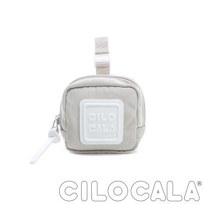 CILOCALA 亮彩尼龍防潑水可扣式零錢包 米色