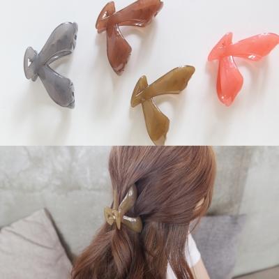 梨花HaNA  韓國進口人字型簡單果凍抓夾
