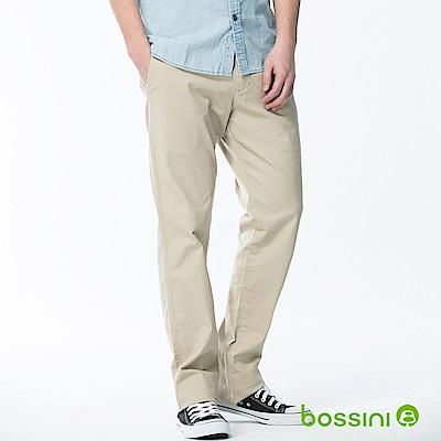 bossini男裝-修身卡其長褲01淺卡其