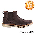 Timberland 男款棕色牛皮絨面短靴
