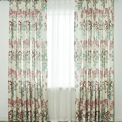 伊美居 - 夏綠蒂印花落地窗簾 - 單片130x230cm (共2片)