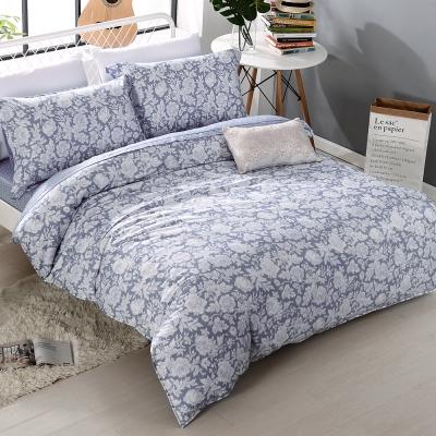 COOZICASA靜謐香氛-藍 雙人四件式吸濕排汗天絲兩用被床包組