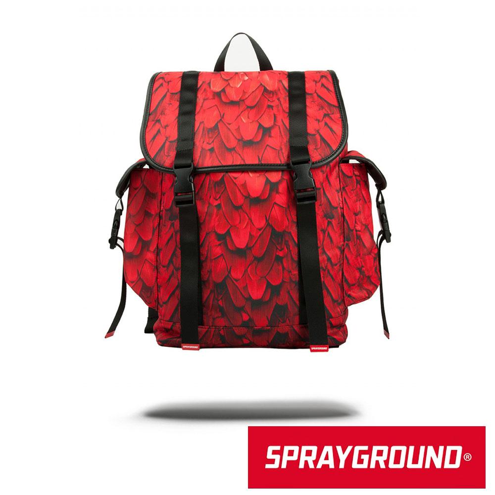 SPRAYGROUND RECON 系列 Red Wing 紅色翅膀掀蓋式筆電後背包