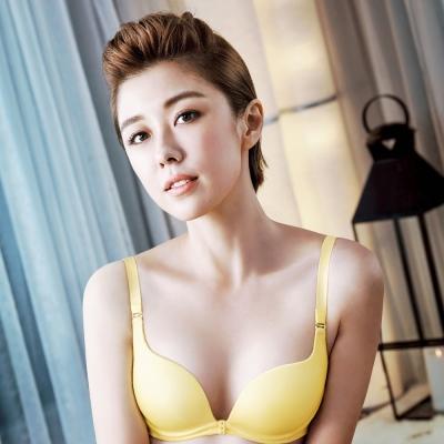 推Audrey-時尚素体美人 B-D罩內衣(玫瑰黃)
