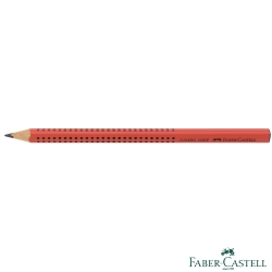 Faber-Castell 紅色系 JUMBO學齡前孩童專用大三角粗芯鉛筆(櫻桃紅)