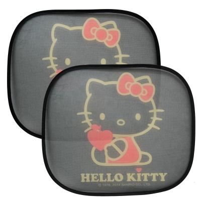 Hello Kitty 我愛蘋果 側窗遮陽板小圓弧