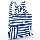 VOVAROVA空氣包-多way後背包-經典條紋(藍)