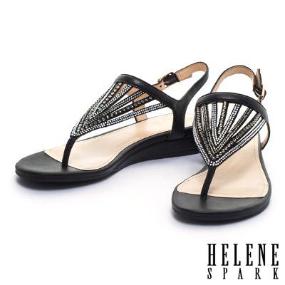 夾腳涼鞋-HELENE-SPARK-晶鑽扇貝造形羊
