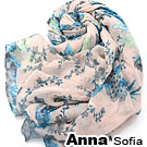 AnnaSofia 櫻漫朵漾 巴黎紗披肩圍巾(淺粉底)