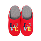 Yvonne CollectionLOVE室內拖鞋-紅L